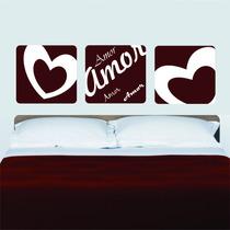 Adesivo Decorativo Parede Quarto Faixa Coração Amor Love