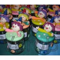 Souvenirs Cumpleaños Frascos Caramelero Payasos En Porcelana
