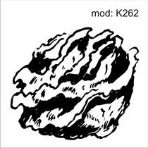 Adesivo K262 Alimentos Geladeira Alface Desenho Abstrato .k