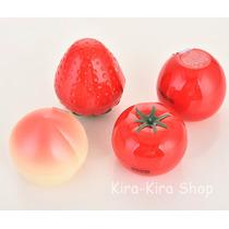 Kawai Crema Forma De Fruta Fresa,tomate,mayoreo Lote10pzas
