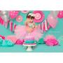 Vestido Tutu Tule Bebe Aniversario Festa 01 Ano