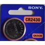 Bateria Pilha Cr2430 Sony Tipo Botao Moeda 3v 1 Unidade