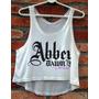 Blusa Cropped Abbey Dawn Avril Lavigne Feminina Regata Nova