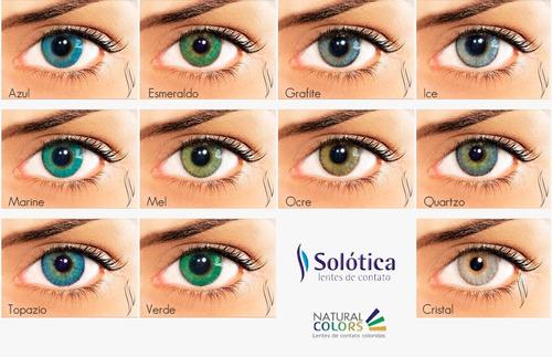 Lente Contato Colorida Natural Colors Anual 1 Ano - Solótica - R  149,99 em  Mercado Livre 4e23c41e2d