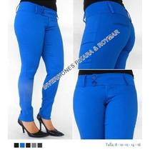 Pantalones Casuales Para Dama Tela Drill