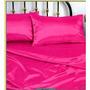 Pink Queen Silky Funda De Almohada De Satén, Set Sábana Aju