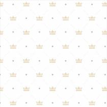 Papel De Parede Infantil Coroas Lavável 2,50 M Antichamas