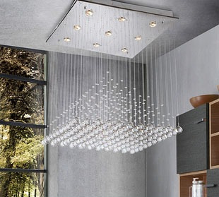 lampara techo de cristal de luz led - Lamparas De Techo De Cristal