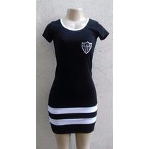 Vestido Atlético Mineiro Com Logotipo Bordado