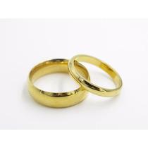 Par De Alianças Desejo Em Ouro K 18 E Diamantes
