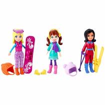 Bonecas Polly Pocket Férias Diversão Na Neve Mattel