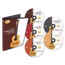 Video Aula Curso Violão 5 Dvds Excelente Didática