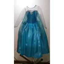 Vestido Princesa Elsa Frozen Disfraz Niña Excelente Calidad