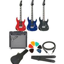Combo Guitarra Electrica Ibanez Grx70+fender 10w+accesorios