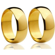 Par Aliança Ouro 18 K 6 Mm 10 Gramas Anatômicas Casamento