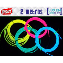 Cable Hilo Neon Luminoso Tron El Wire Led Luz 2 Metros