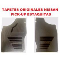 Tapetes Originales Nissan Pick Up/estaquitas Vinil Negro
