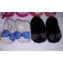 Set De Zapatos Tejidos Crochet Bebé Niña