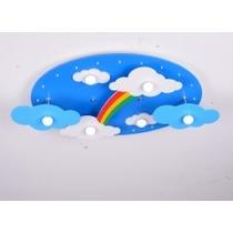 Luminaria Infantil Rainbow Quarto Criança Menino Menina Bebe