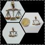 Dije Balanza De La Justicia Plata Y Oro