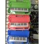 Caja Con 10 Melodicas 32 Teclas Vitale Azul Rosa Verde