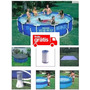 Piscina Intex 6503 L Filtro 110v Capa Forro Kit De Limpeza