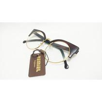 Armacao Oculos Grau Feminino Modelo Gatinho Moda Otica