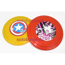 20 Frisbee Souvenir Personalizado Monster High Frozen 16,5cm