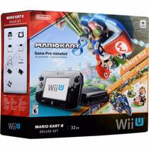 Nintendo Wii U 32gb Com Jogo Mario Kart 8 + Dlcs