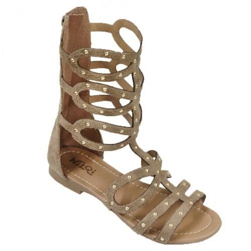 b2be224819 Sandália Gladiadora Infantil Feminino - Calcados 5 Cores - R  59