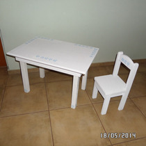 Mesa Infantil Con Dos Sillas - A Pedido