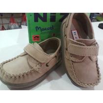 Zapatos Náuticos Cuero Varón Oferta 19/26 Abrojo Niz´s Calza