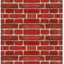 Papel De Parede Adesivo Tijolo Vermelho - X4adesivos (ppp08)
