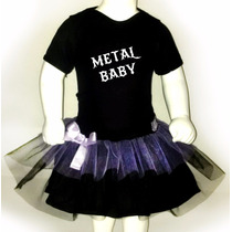 Disfraz Halloween Para Bebes Pañalero +tutu- Metal Baby
