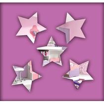 Estrela 10 Peças Espelho Decorativo Acrílico 8cm Sala Quarto