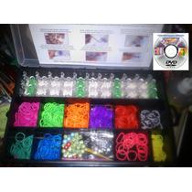 Kit De Ligas Para Pulseras Con Caja Organizadora + Regalos
