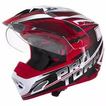 Capacete Motocross Pro Tork Th-1 Adventure Com Viseira