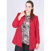 Casaco Plus Size Feminino Facinelli - Vermelho