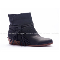 Botas Con Flecos Taco Chino Lady Comfort - La Diosa Shoes