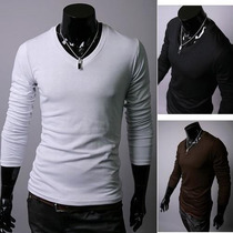 Slim Fit Polo Manga Larga 100% Algodon Pima