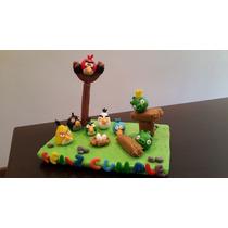 Adorno Para Torta, Angry Birds Porcelana Fria