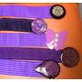 Cinturón Elástico Vintage Con Hebilla De Resina