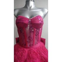 Vestido Para Xv Color Fiusha