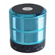 Mini Caixa Caixinha Som Portatil Bluetooth Mp3 Fm Usb Azul