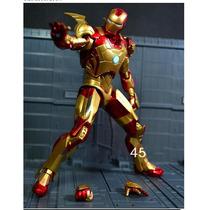 Homem De Ferro Mark 42 Iron Man 3 Pvc Action Figure 19 Cm