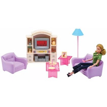 La Sala De Estar De Gloria Muebles Para Muñecas Barbie Smile