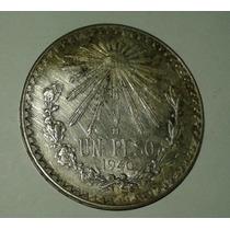 Moneda Mexico Un Peso 1940 Plata .720