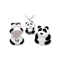 Colgante, Collar De Panda Bear En Figurativo Caja De Regalo