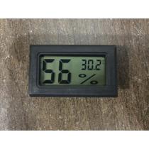 Termometro Higrometro Termohigrometro Digital Lcd Negro Nuev