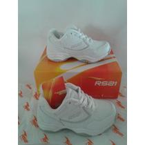 Zapatos Escolares Deportivos Blancos Rs21